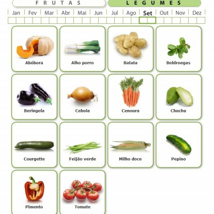 Comer os legumes e frutas na época ideal